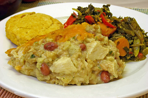 Glory Foods Turkey, Beans, and Rice Casserole