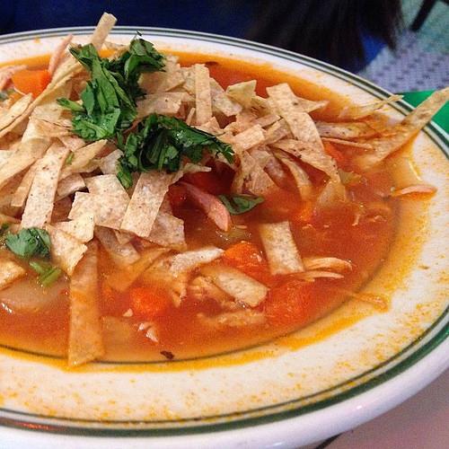 Chicken tortilla soup #food